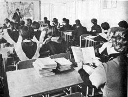 Учитель проверяет опорные конспекты