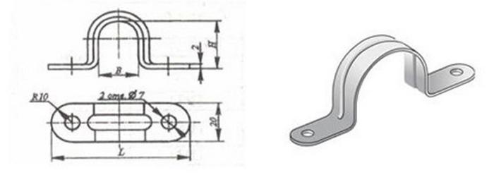 Скоба К143 – важная деталь крепления труб и кабелей